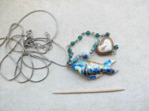 Pesce-Rimorchi con catena, Cloisonne