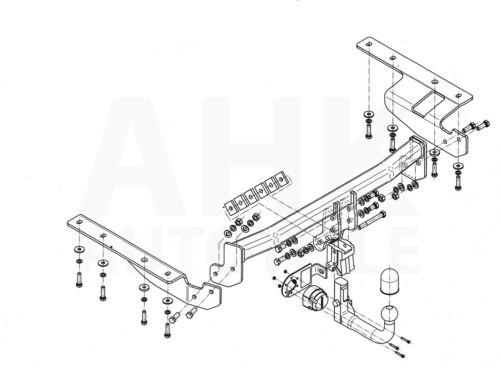 es 7p ABE POUR HONDA CR-V III RE attelage amovible