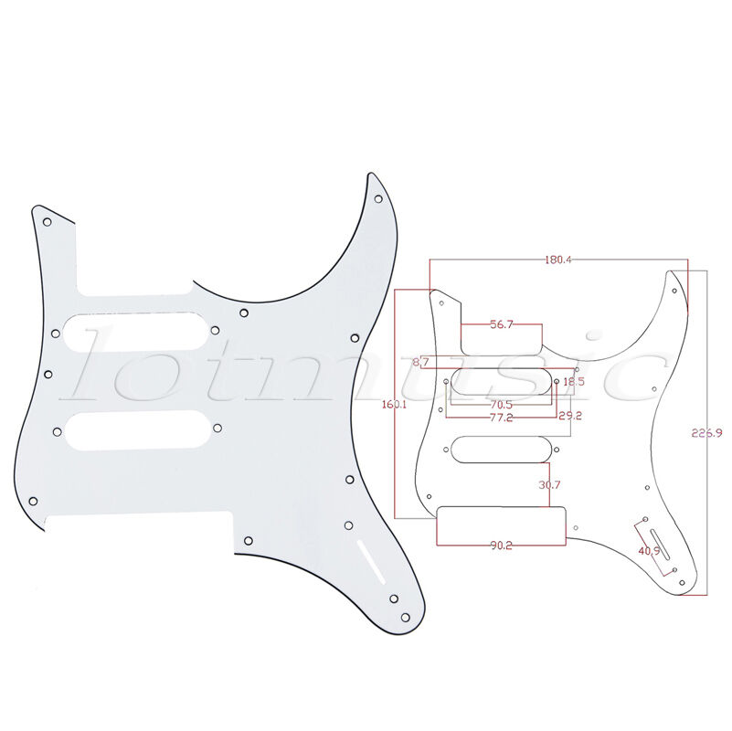 White guitar pickguard for yamaha pacifica 112v for Yamaha pacifica 112 replacement parts