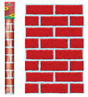 Deck The Walls Red Brick 40ft Christmas Room Roll Scene Setter Party Decoration