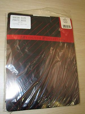 Women's Clothing Smart Designer Collection #600 Off Black Pantyhose Size Queen New Cotton Crotch Pantyhose & Tights