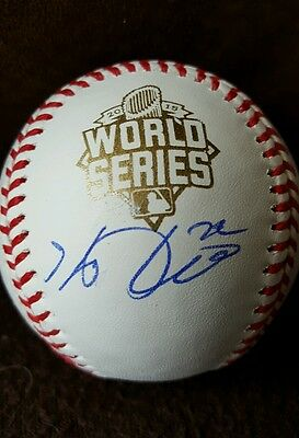 Autographs-original Sensible Kevin Plawecki Signed 2015 World Series Baseball New York Mets W/coa Proof Rare