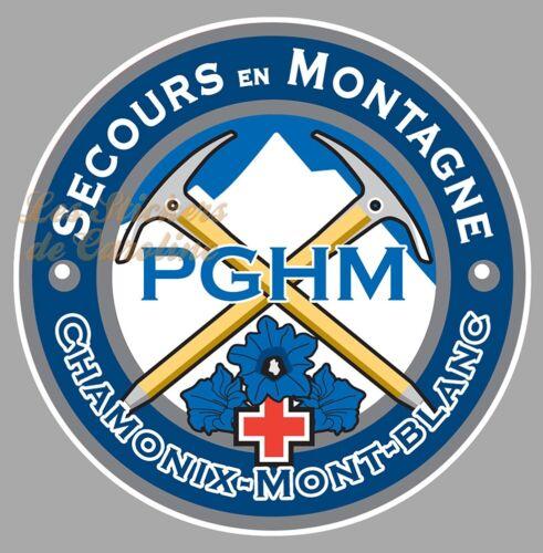 STICKER PGHM GENDARMERIE SECOURS EN MONTAGNE 74 CHAMONIX MONT-BLANC 25cm SC040