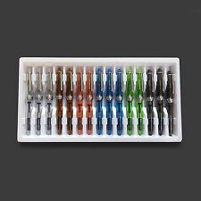 One Pack 15 Jinhao 992 Transparent Demonstrator Fountain Pens Screw Cap Fine Nib