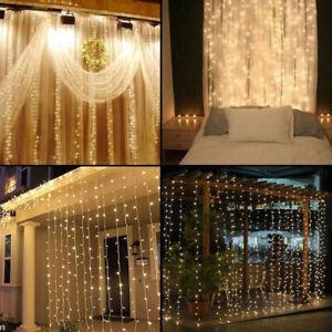 LED Glaçon Pendant Rideau Guirlande Lumineuse Lumière de Fée Jardin Noël Décor