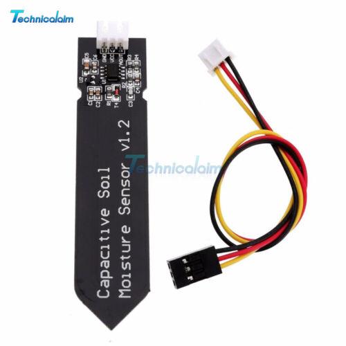 5PCS Analog Capacitive Soil Moisture Sensor V1.2 Corrosion Resistant Cable Wire