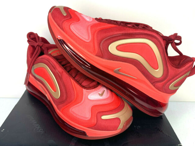 $160 NIB MULTI SIZE YOUTH WOMEN Nike Air Max 720 GS Running Shoes RED BRONZE NEW