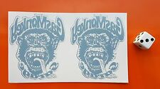 x2 Gas Monkey Garage stickers reverse printed on clear vinyl internal window
