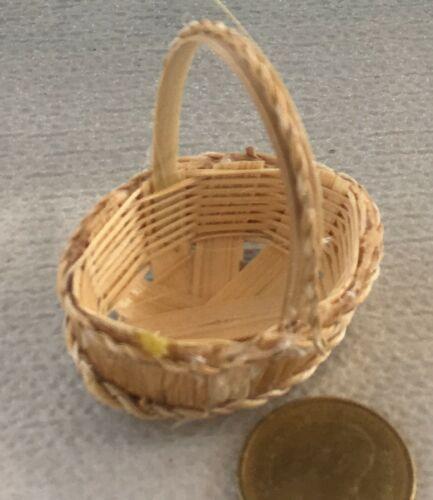 1:12 SCALA 2 fatto a mano 4.2cm x 3.5cm cesti di bambù tumdee casa delle bambole Z9