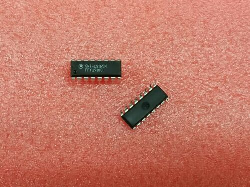 20X SN74LS165N 8-BIT RIGHT PARALLEL IN SERIAL OUT SHIFT REG,COMP OUTPUT,PDIP16