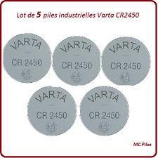 5 piles boutons CR2450 lithium Varta Industrielle, livraison rapide et gratuite