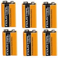 6 Single Duracell Procell 9 V Block Alkaline Battery  PP3 6LR61 MN1604 Batteries
