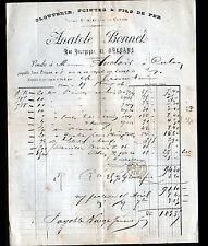 """ORLEANS (45) QUINCAILLERIE, ARTICLE de CHASSE """"Anatole BONNET"""" voyagée en 1886"""