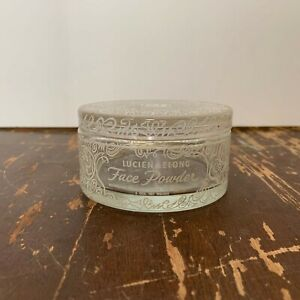 Vintage-Lucien-Lelong-Face-Glass-Powder-Jar