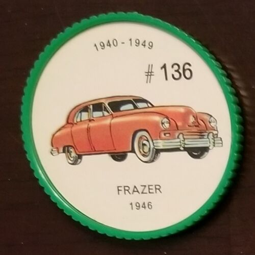 NUMBER 1961 Jello Picture Wheels Automobiles coin CHOOSE YOUR CAR
