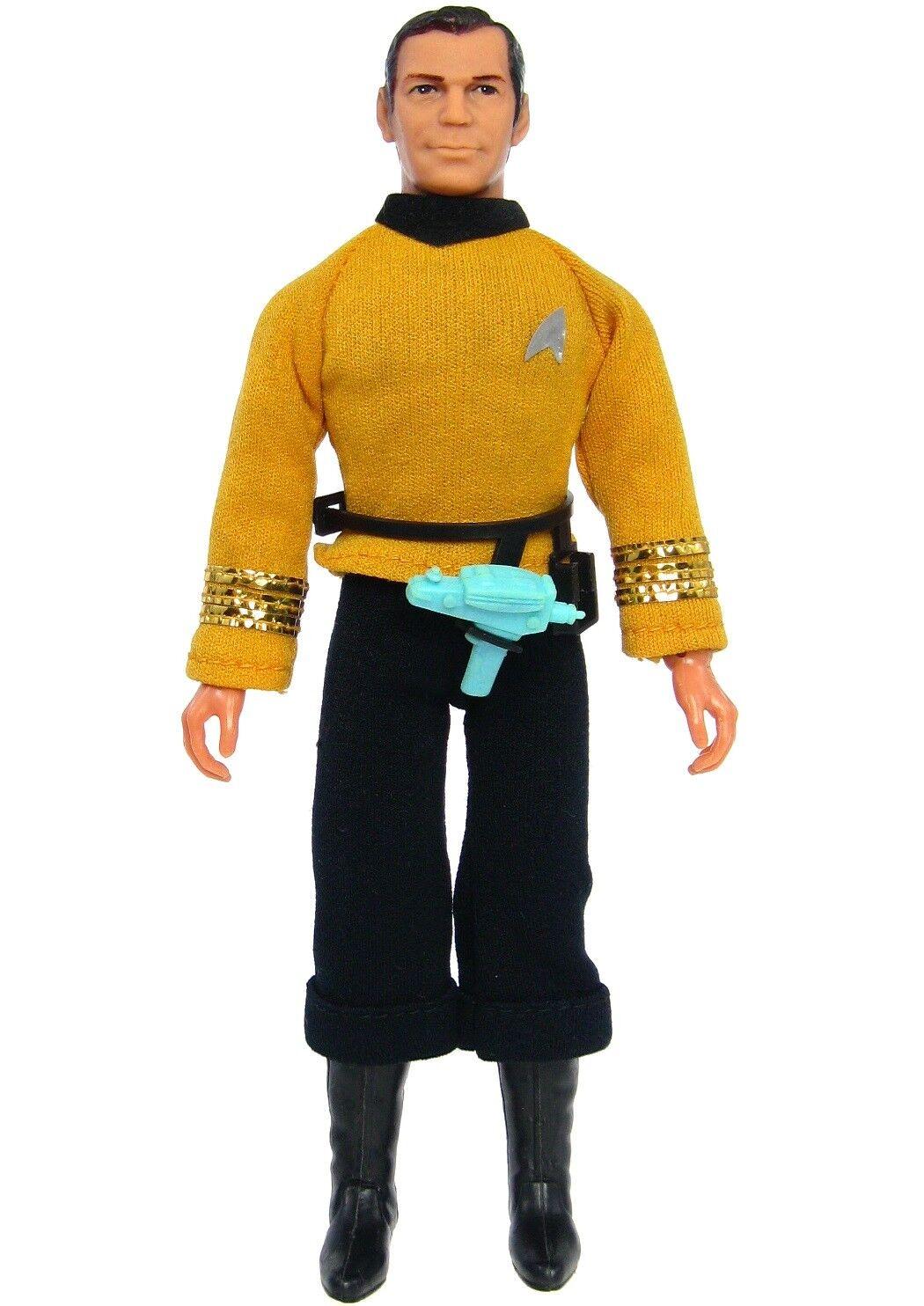 Vintage 1974 Mego Star Trek  Capt James T Kirk 8  T2 Action Figure w Phaser  gros pas cher