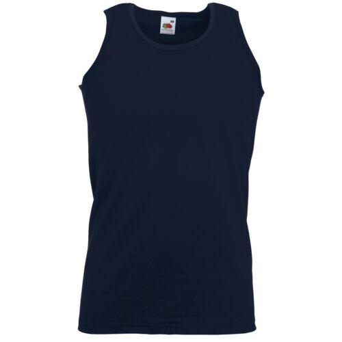 5 PACK Fruit of the Loom Men/'s Value weight Athletic Vest Tops Summer Vests T