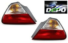 98-02 Accord Coupe 2D Red Clear Tail Lights Outer 2 pcs