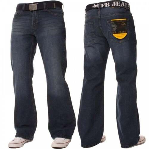 "Long Mens BootCut Jeans Stone Edge Apt Denim Waist 28/"" to 48/"" Short Regular"