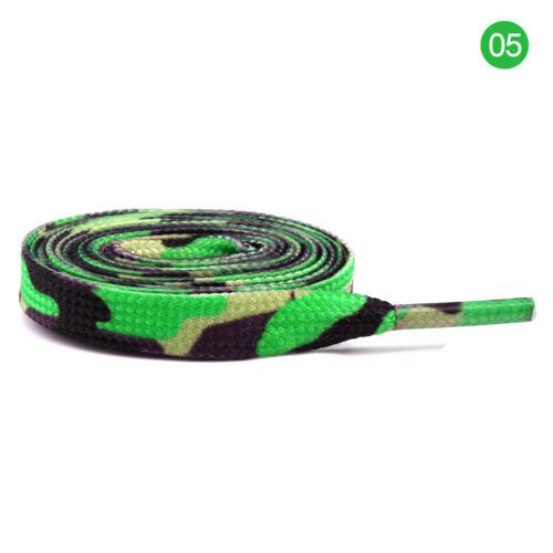 New Multi Colour Flat Shoe Laces Canvas Athletic Shoelace Sport Sneaker Strings