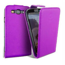 SGS III Purple Luxury PU Leather Flip Case for Samsung i9300 Galaxy S3 Safety