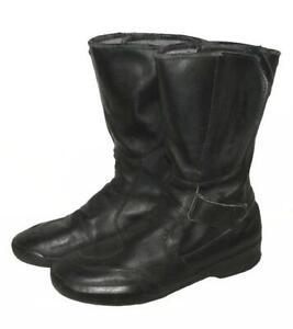 gt-gt-gt-Herren-Motorradstiefel-Boots-Stiefel-in-schwarz-in-ca-Gr-42-bis-42-5