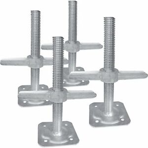 Metaltech IIBSJP12H4 Adjustable Leveling Jacks-4Pk., For Baker-Style Scaffolding