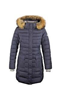 premium selection 54b90 2ae3c Details zu SICB G316 Winterjacke Damen Echtfell Kapuze Parka von Snowimage  Bio-Daunen