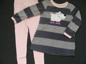 0fa02b1526ee NWT Carter s Girls Fleece Winter Pajamas Size 4 Pink Pjs Cotton ...