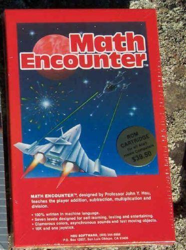 Math Encounter Atari 800//XL//XE Cartridge New NIB