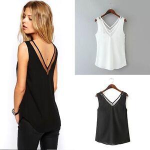Casual-Women-V-neck-Vest-Summer-Loose-Chiffon-Sleeveless-Tank-T-Shirt-Top-Blouse