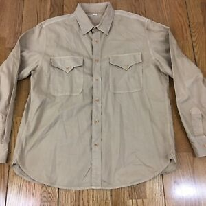 Wallace-and-Barnes-Garments-of-Distinction-Men-039-s-Shirt-Long-Sleeve-Size-XL