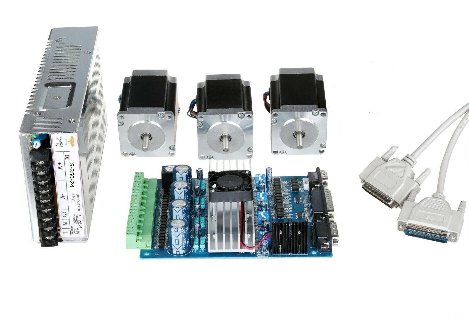US Nema23 Stepper Motor 23HS8430 270oz-in 4leads&BOARD TB6560 CNC Router Kit