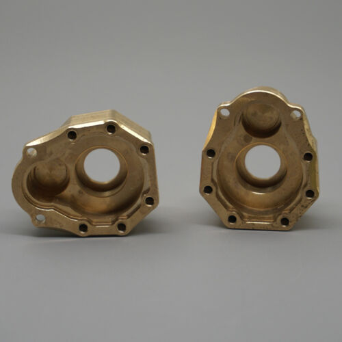 2Pcs Heavy Duty Brass Steering Knuckle Portal Cover For Traxxas TRX-4 1//10 RC