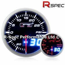 Satin Silver Sumex 52mm Diameter 12V Car Turbo Boost Pressure Gauge Race Dial