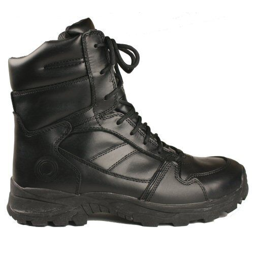 Leather Ops 6 Black Patrol Boots Security Combat Paramedic Climate Tactical wIg1xaqO