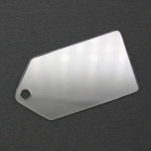 2.5 inch Clear Cast Acrylic Tags 2mm or 3mm thick great for gifts and crafting