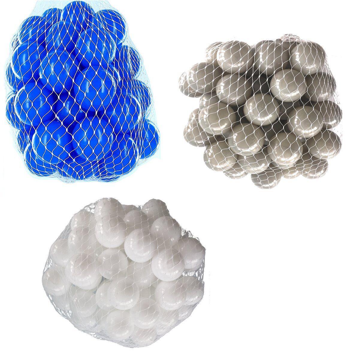 150-9000 Bällebad Bälle 55mm mix weiß grau blau gemischt Farben Baby Kind Ball