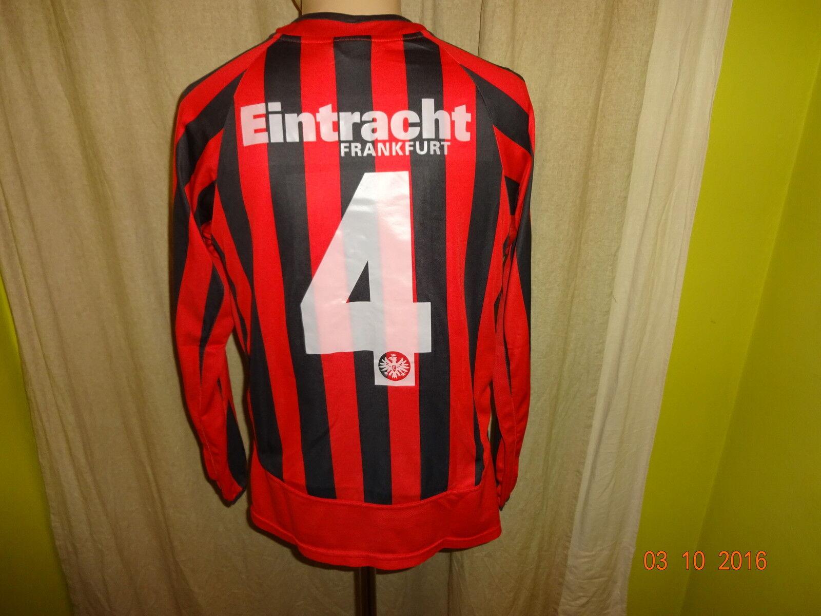 Eintracht Frankfurt Original Jako Langarm Junioren Matchworn Trikot + Nr.4 Gr.S  | Zuverlässiger Ruf