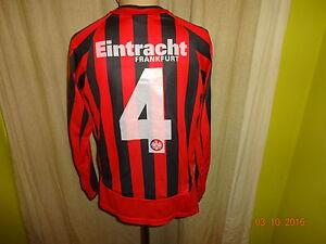 Eintracht-Frankfurt-Original-Jako-Langarm-Junioren-Matchworn-Trikot-Nr-4-Gr-S