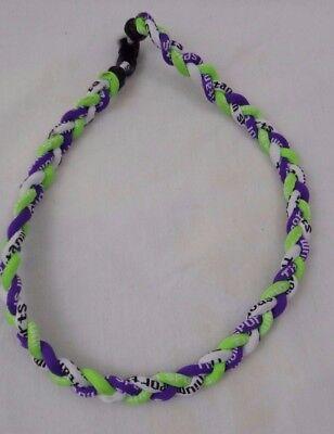 "NEW 20/"" Black Purple Lime Neon Green Titanium Necklace Tornado FREE SHIPPING"