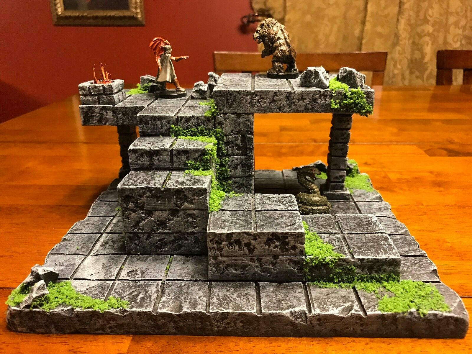 Dungeon Sacred Ruin 28mm Terrain Dungeons /& Dragons Pathfinder 40k warhammer