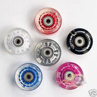 Flashing Light Up Disco Roller Skate Wheels ( 8 Pack )