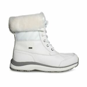 d6905d08fe4 Details about UGG ADIRONDACK III QUILT WHITE WATERPROOF LEATHER WOMEN'S  BOOTS SIZE US 8.5 NEW