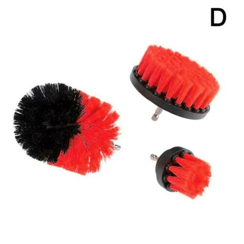 3pcs//set Auto Electric Brush Hard Bristle Detailing Clean Care Supply New