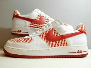 Details about Nike Shoes 2005 Air Force 1 AF1 Low Premium Drum Island Woven Red Size 14