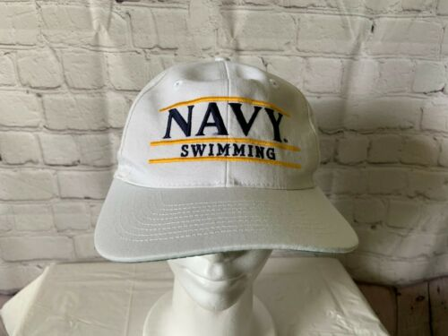 Navy Swimming Snapback Hat Cap