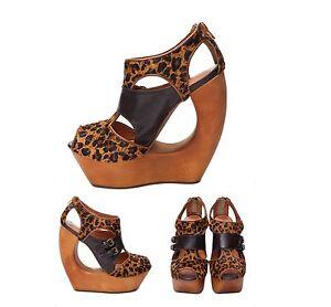 Jeffrey-Campbell-Rock-me-Cheetah-Women-039-s-Fashion-Wedge-Platform-Sandal-Shoes