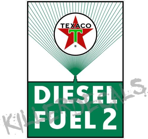 "12/"" TEXACO RECTANGLE GREEN DIESEL FUEL GASOLINE GAS CHIEF PUMP OIL TANK DECAL"