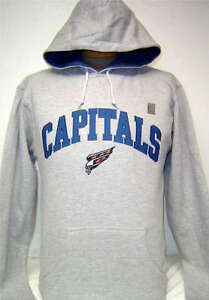 Image is loading YOUTH-NHL-Washington-Capitals-Hockey-Gray-Pullover -Embroidered- 6745077c5